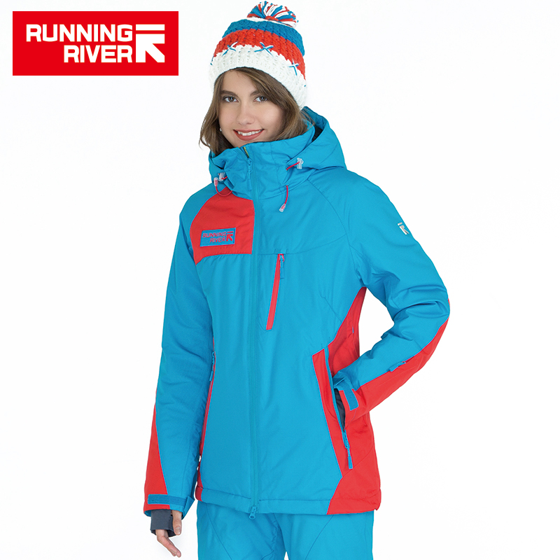 RUNNING RIVER Brand High Quality Women Sports Jacket 4 Colors 6 Sizes Winter Warm Ski Jacket For Woman Outdoor Clothing #A5020 running river brand men hooded ski jacket for winter 4 colors 6 sizes high quality outdoor sports jackets for man a6026