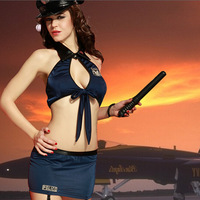 Sexy Women Police Underwear Uniforms Temptation Fancy Halloween Costume Sexy Erotic Lingerie Police Costumes For Women