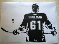 Hockey player Wall art Decal sticker Choose Name number personalized home decor Wall Stickers For Kids Room Vinilos Paredes D645