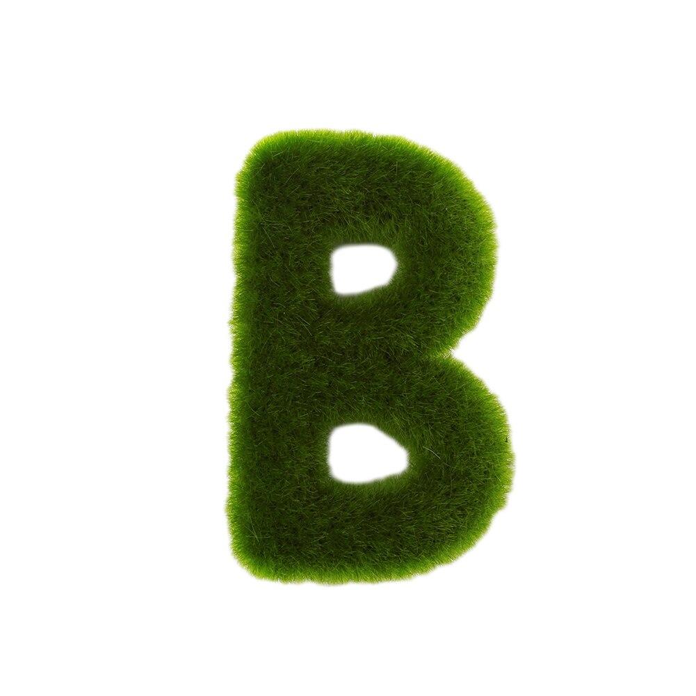 Буквенные предметы интерьера искусственный газон письмо искусственный газон украшение 26 слов ремесленный дом окно креативный - Цвет: B