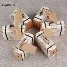 OurWarm 10pcs Suitcase Candy Boxes Travel Theme Party Supplies Gift for Wedding Birthday Favor Chocolate Boxes Anniversary Gift