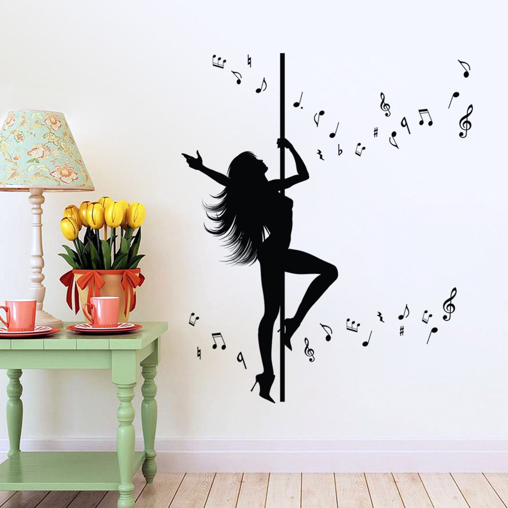 New caved dancing women wall stickers extra large for Deco mural stickers