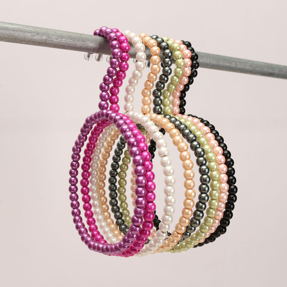 Colorful Pearl Scarf Hanging Racks Silk/Ties/Scarves/Towel Hanger Plastic Clothes Hangers For Baby Supplies