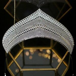 Image 5 - Wysokiej jakości cyrkonia ślubna ozdoba na głowę akcesoria dla nowożeńców ślubne akcesoria do włosów prezent