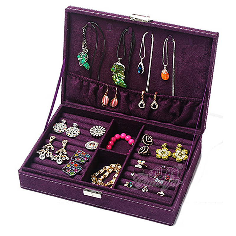 Fashion Jewelry Organizer Box Plate Stud Earring Earrings Storage Box Ring Wedding jewelry packaging & display Gift VS005