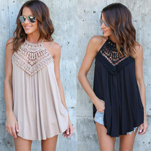 Fashion Women 2018 Summer Lace Vest Top Sleeveless Blouse Casual Hollow Out Tops Shirt Fast Shipping недорго, оригинальная цена