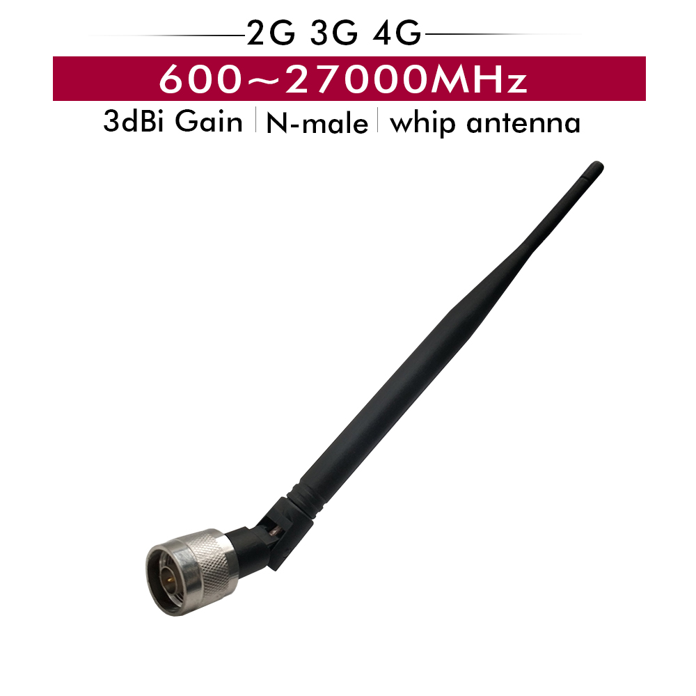 2G 3G 4G 600~2700MHz 3dBi Indoor Whip Antenna + N Male Connector For GSM/CDMA/DCS/WCDMA/LTE Cell Phone Signal Booster Repeater