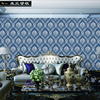 Non Woven New American Style Wallpaper Roll Rustic Wall Paper Mural Wallpaper For Walls Non Woven