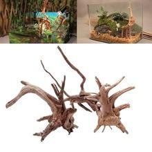 Натуральное дерево ствол driftwwood аквариум рептилия цилиндр изготовления корней растение дерево украшение орнамент