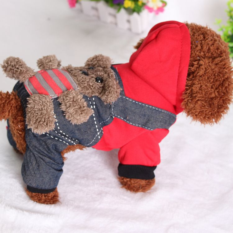 SYDZSW New Chihuahua Clothing Red Yellow Sport Dog Coat Hoodie for Small Dogs Cats Puppy Pet Jeans XS S M L XL XXL Dog Costume Wholesale5