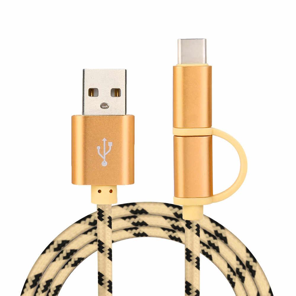 V8 Micro Тип usb C Combo Мужской данных зарядный кабель для ZTE zmax Pro z981 дропшиппинг April19