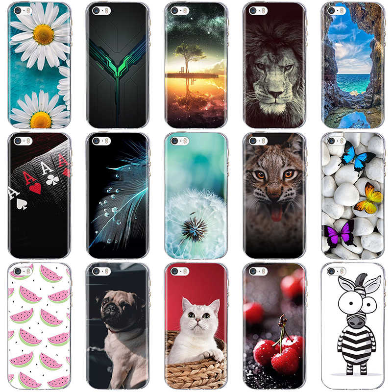 Case Voor iphone 5 5s SE Case Cover Siliconen 3D TPU Coque voor iphone 6 6s Case Silicone Cover Coque voor iphone 6s 5 s Cover Funda