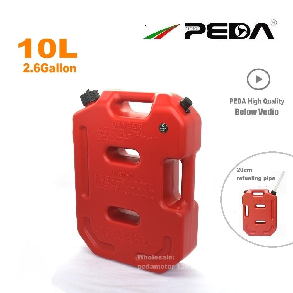 10L GAS CAN Jerry Can Qırmızı Portativ yanacaq anbarı Plastik - Motosiklet aksesuarları və ehtiyat hissələri - Fotoqrafiya 2