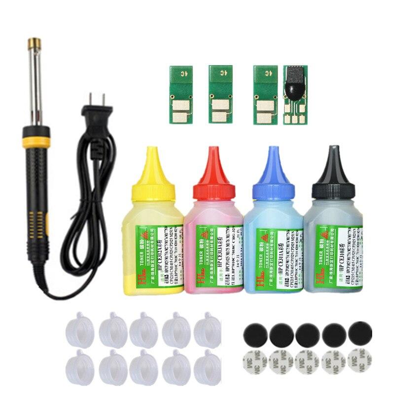 Recharge toner poudre cartouche trousse à outils + 4 puce pour HP CF410A couleur LaserJet Pro M452dn M452dw M452nw MFP M377dw M477fdn M477