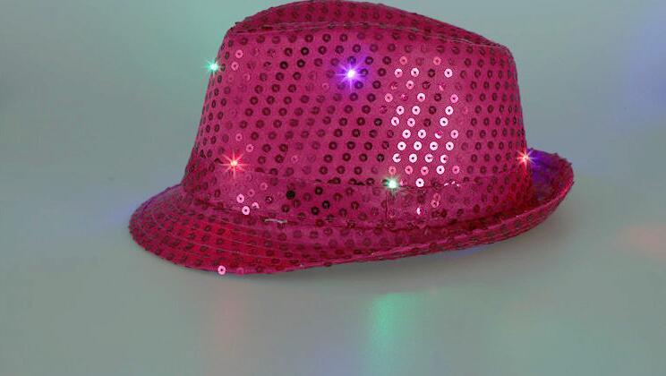 Kinder Junge Mädchen erwachsene Led beleuchtung Flash Fedora Hut ...