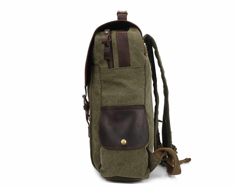 Nesitu высокое качество Винтаж Армейский зеленый синий хаки холст Для женщин Для мужчин рюкзаки 14 ''ноутбук Для мужчин с дорожные сумки M1820