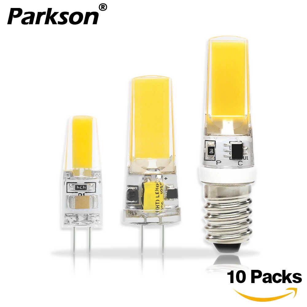 10PCS/lot COB LED Lamp G4 G9 E14 LED Lamp Bulb AC/DC 12V 220V 6W 9W 12V 360 Beam Angle Replace Halogen Chandelier Lights