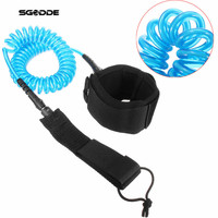 Adjustable Surf Board Coiled 7mm 10 Foot Long Surfing Bodyboard Surfboard Paddle Strap Kit Leash Wrist