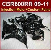 Flat black fairings for HONDA CBR600RR fairing kits 2009 2010 2011 cbr600rr ABS CBR 600RR 09 10 11+7gifts