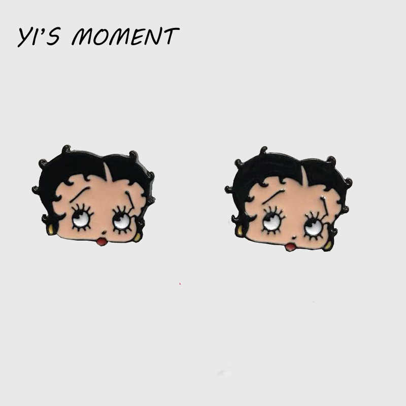 2019 new model birthday  Gift Enamel Animal Jewelry Lovely Betty Boop stud Earrings Women Earing for kids