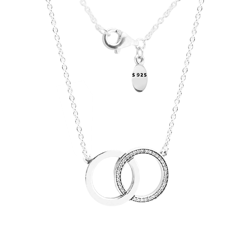 Pendant Necklaces & Pendants Pingente Signature Circles Necklace 925 STERLING SILVER JEWELRY Choker Christmas Gift