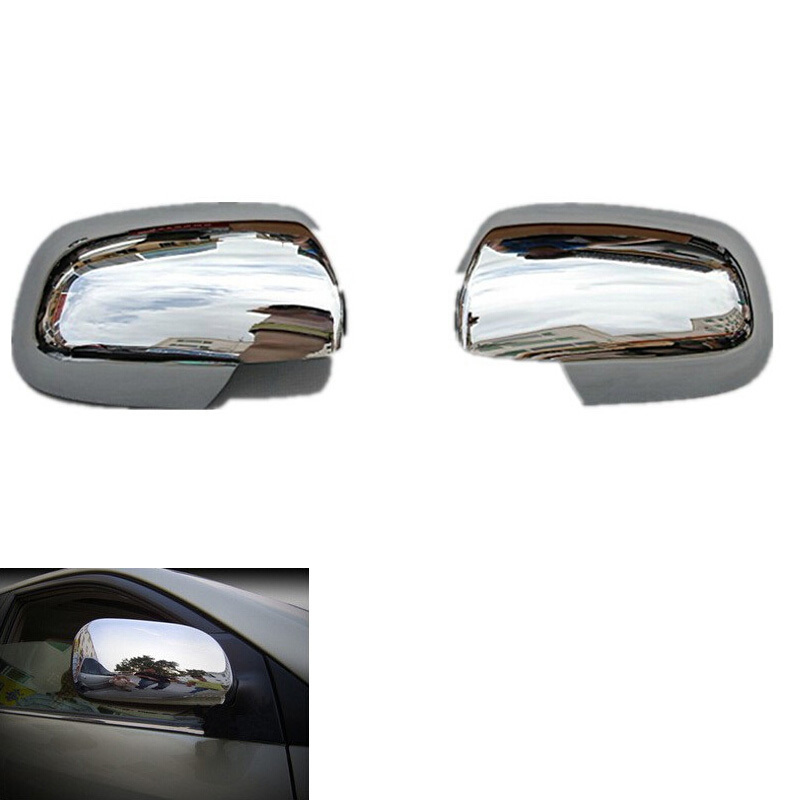 цена на Side Mirror Cover Rearview Mirror Cover Trim For Toyota Corolla 2008 2009 2010 Abs Chrome 2Pcs Car Accessories car styling