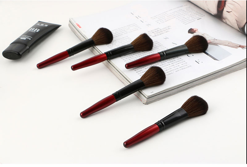 MECOLOR Wooden Handle Makeup Brushes set tools For Face Powder Blusher Foundation eye cosmetics brush Beauty kits 11