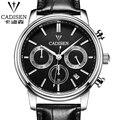cadisen Sports Multifunction Men's Wrist Watches Leather Watchband Top Luxury Brand Males Chronograph Quartz Clock Boy watch