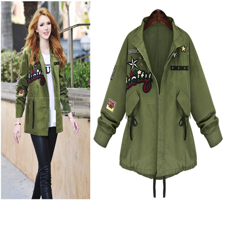 Army Green Jacket Women 2015 Autumn Military Jacket Women ...
