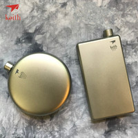 Keith Titanium Hip Flask Flagon Portable Wine Whisky Pot Sports Flagon Pure Titanium Wine Pot With Funnel Outdoor tableware