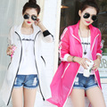 Women summer jacket 2016 transparent style ladies   jackets sunscreen UV protection girls beach coat KM1481