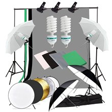 60x90cm 24x35 5 in 1 multi reflector photography studio photo oval collapsible light reflector handhold portable photo disc Abeststudio Studio Photography Continuous Lighting Kit 2x135W photo light 4x Umbrella 2x Light Stand 60cm 5 in 1 Reflector Panel