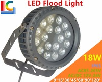 High Quality 18W LED Flood Lights IP65 Waterproof Outdoor Landscape Lighting DMX512 Control RGB Colorful Spotlight