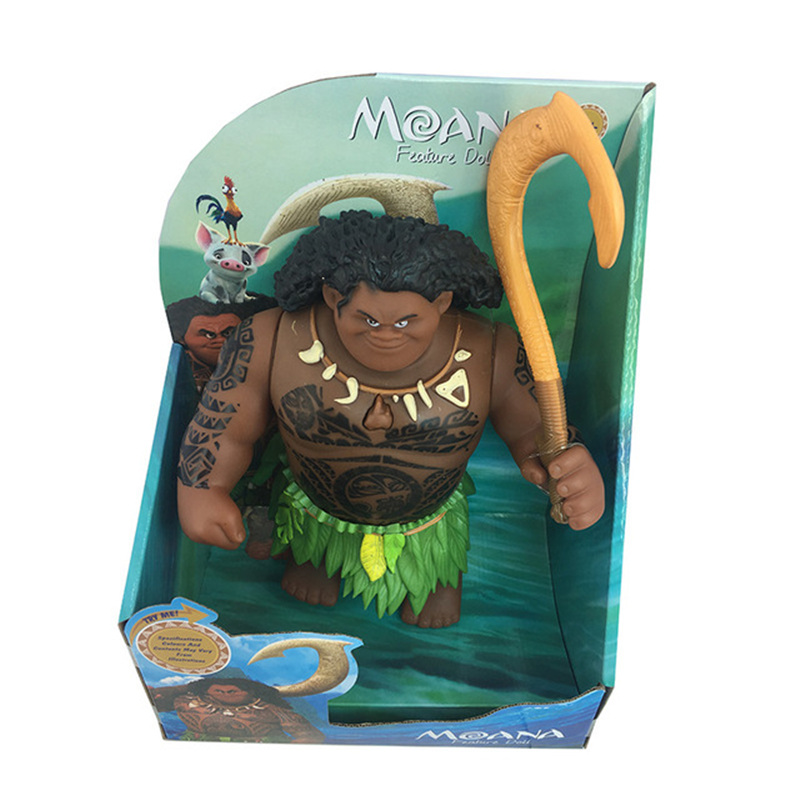 Image 2 - Disney Toys Movie Moana Waialiki Maui 20cm Doll Model with Music Action Figure Cosplay Childrens Birthday Gift Christmas GiftAction & Toy Figures   -
