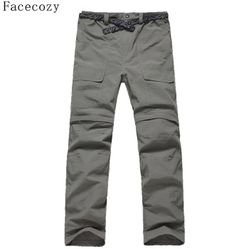 Facecozy Men Summer&Spring Quick Drying Hiking&Trekking Pants Male Removable Camping Pants & Outdoor Ultra-thin Trousers 1