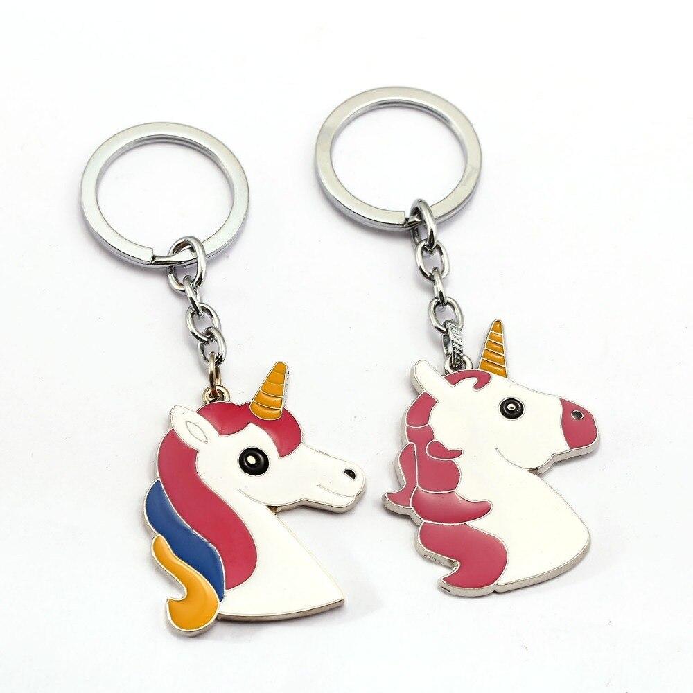 Novelty Unicorn Rubber Toy Key Chain Toys for Children Birthday Gift Pinata Unicorn Pendant Toy for Kids Christmas Gift Oyuncak