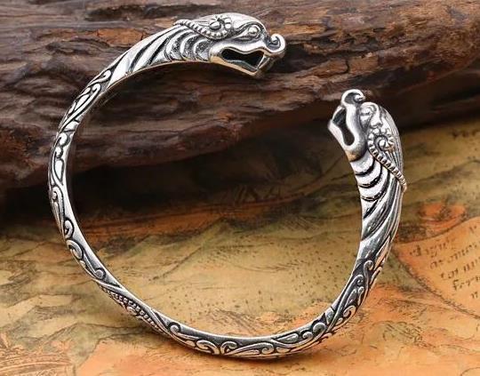 JOOCHEER Sterling S925 925 silver Bangle Flood dragon vintage ethnic braceletJOOCHEER Sterling S925 925 silver Bangle Flood dragon vintage ethnic bracelet