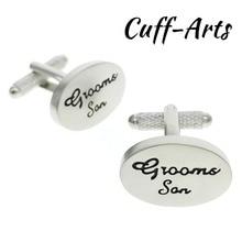 Cufflinks for Men Silver Satin Oval Grooms Son Wedding cufflinks  wedding gift by Cuffarts C10097