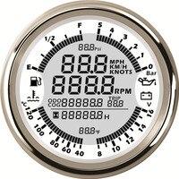 6 в 1 функции цифровой gps ЖК дисплей Спидометр Тахометр Температура воды Манометр для грузовик корабль