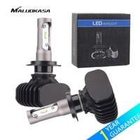 MALUOKASA 2PCs H4 H7 LED Bulb 12V Car Headlight 9005 HB3 9006 HB4 H8 H9 H11