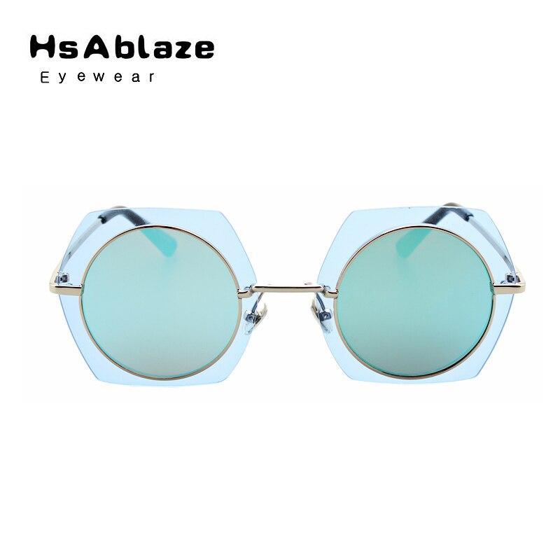 Hsablaze brillen new mode randlosen rahmen polygon sonnenbrille ...