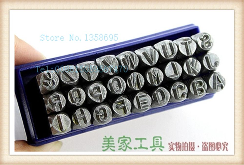 27pcs 8 MM Capital Letter A-Z Punch Stamp Set steel punch tool Jewelry Stamp