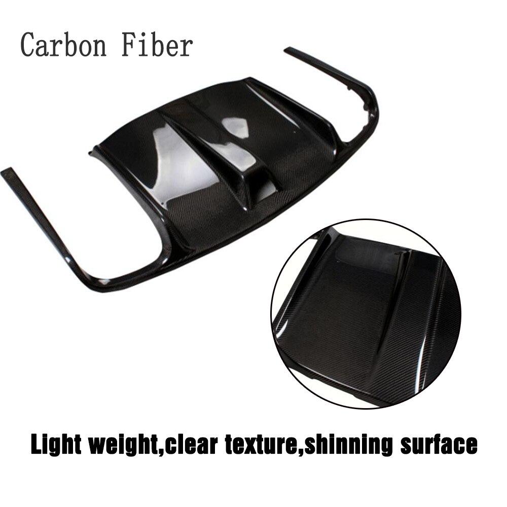 Углеродного волокна/frp зад бампер диффузор спойлер для Mercedes-Benz e-класс W207 C207 E63 AMG купе Contertible 2009-2012 - Цвет: Carbon Fiber