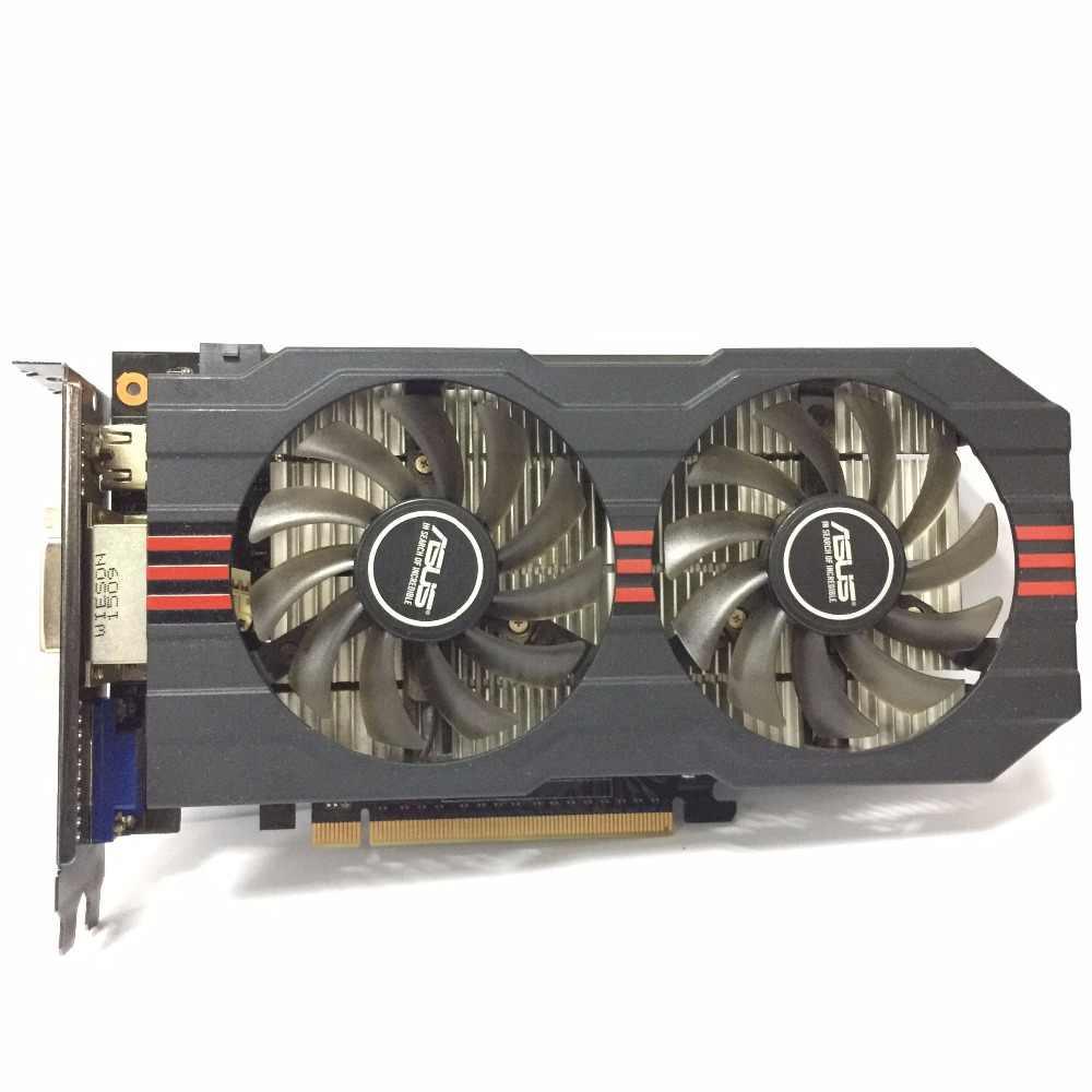 ASUS GTX-750TI-OC-2GB GTX750TI GTX 750TI 2G D5 DDR5 128 Bit PCI Express 3.0 Komputer Kartu Video HDMI PC Desktop kartu Grafis