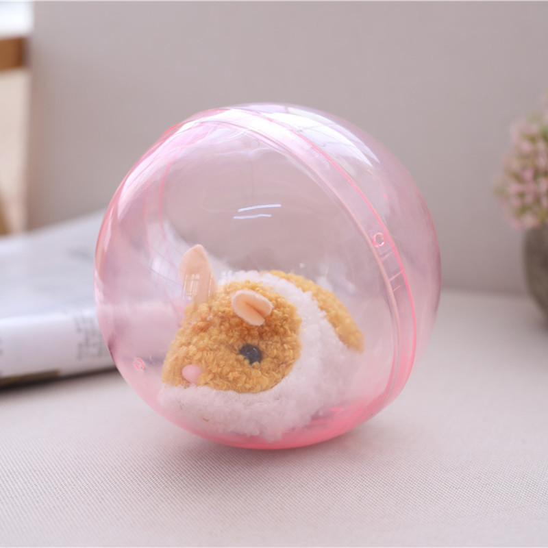 Electric Ball Robot Hamster Electric Toy Plush Hamster Toy Crawl Roll Attract Baby's Attention Train Baby Crawl Educational Toys