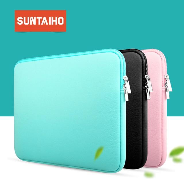 Suntaiho модная сумка для ноутбука на молнии с мягким рукавом 11 13 14 15 дюймов сумка чехол для MacBook Air ультрабук ноутбук планшет портативный