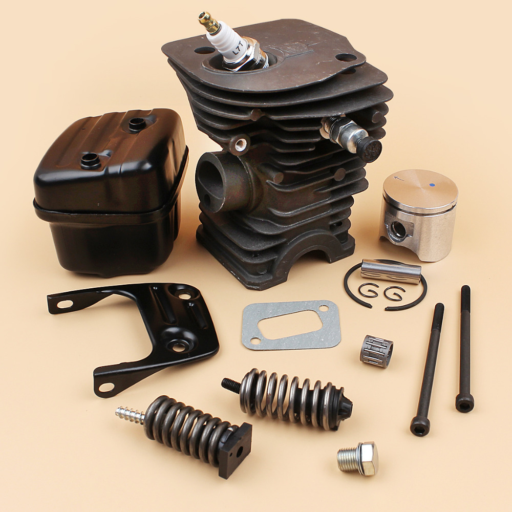 Tools : Cylinder Head Piston Muffler Bracket Bolt Shock Spring Buffer Kit Fit Husqvarna 340 345  42mm  Chainsaw Engine Motor Parts
