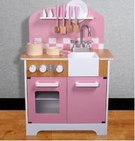 Nordic играть дома игрушки многофункциональный дети играют игрушка милый розовый большой Кухня Пособия по кулинарии настольная Имитация Моде