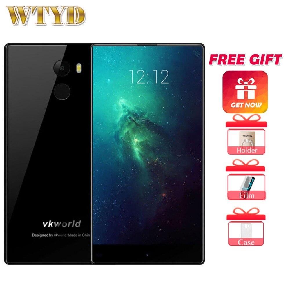 VKworld Mix Plus 3GB+32GB Fingerprint Identification 5.5'' 2.5D Full Edgeless Android 7.0 MTK6737 Quad Core up to 1.3GHz 4G