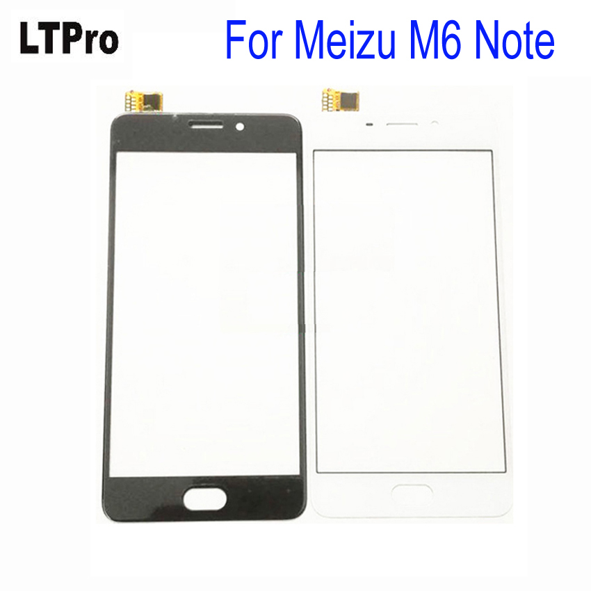 LTPro Black White TOP Quality Front Panel Glass Sensor Replacement Touch Screen Digitizer For <font><b>Meizu</b></font> <font><b>M6</b></font> <font><b>Note</b></font>/Meilan <font><b>Note</b></font> 6 Phone image